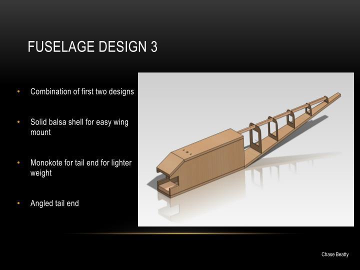 Fuselage design 3