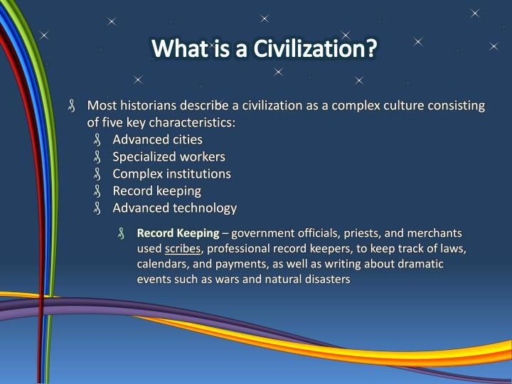 What is a Civilization?