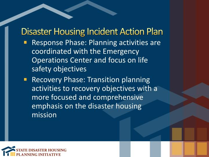 Disaster Housing Incident Action Plan