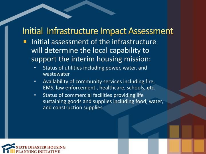 Initial  Infrastructure Impact Assessment