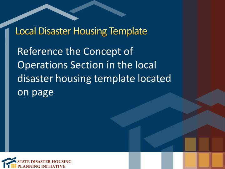 Local Disaster Housing Template