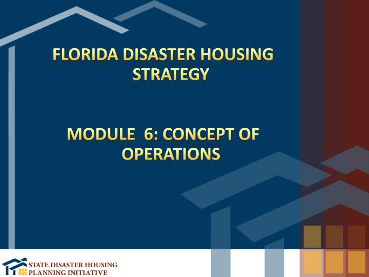 Florida Disaster Housing Strategy