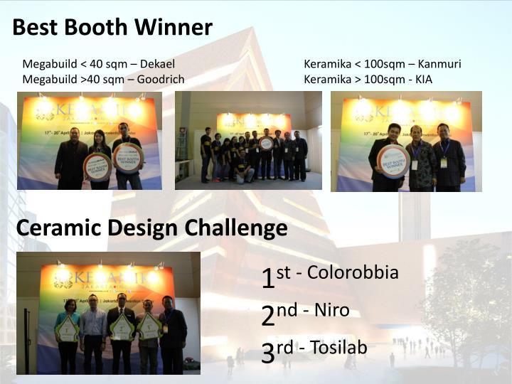 Best Booth Winner
