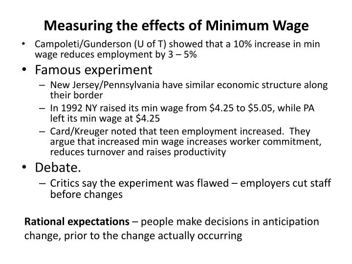 Measuring the effects of Minimum Wage