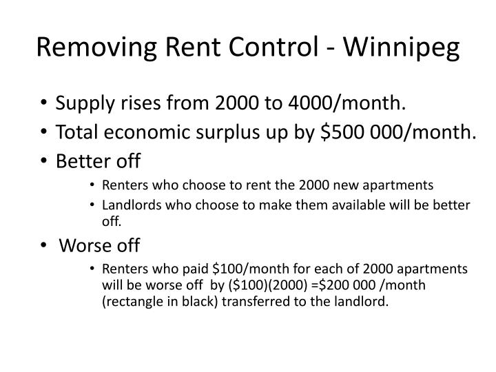 Removing Rent Control - Winnipeg