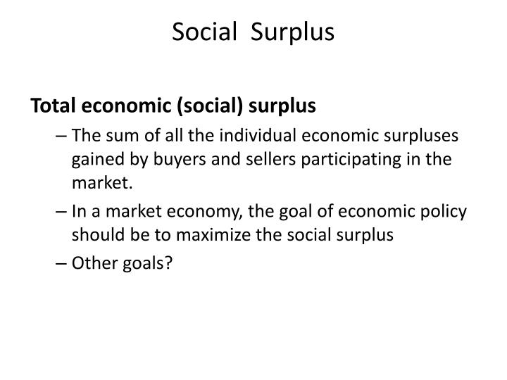 Social  Surplus