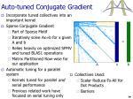 auto tuned conjugate gradient