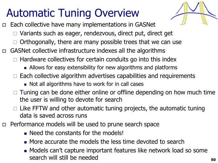 Automatic Tuning Overview