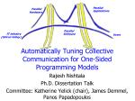 automatically tuning collective communication for one sided programming models