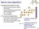 barrier tree algorithm