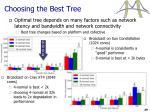 choosing the best tree