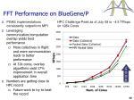 fft performance on bluegene p