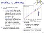 interface to collectives