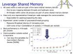 leverage shared memory