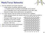 mesh torus networks