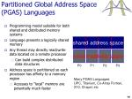 partitioned global address space pgas languages