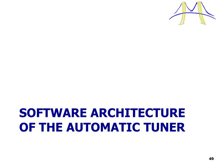 Software Architecture of the AUTOMATIC TUNER