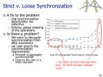 strict v loose synchronization