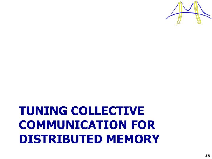 Tuning Collective Communication FOR Distributed Memory