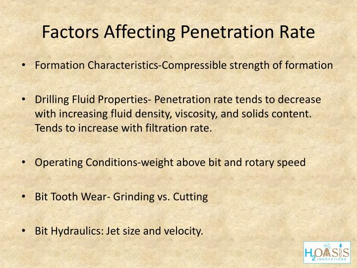 Factors Affecting Penetration Rate