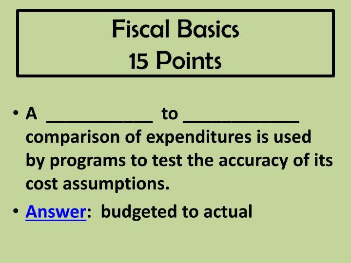 Fiscal Basics