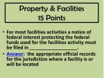 property facilities 15 points