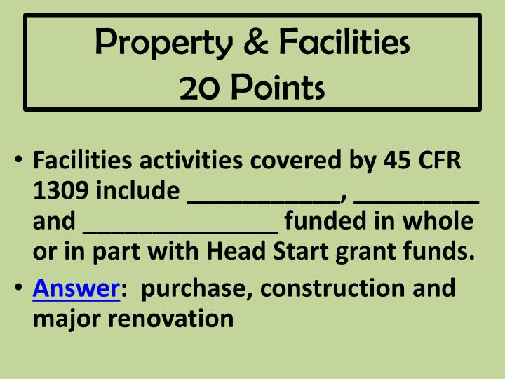 Property & Facilities