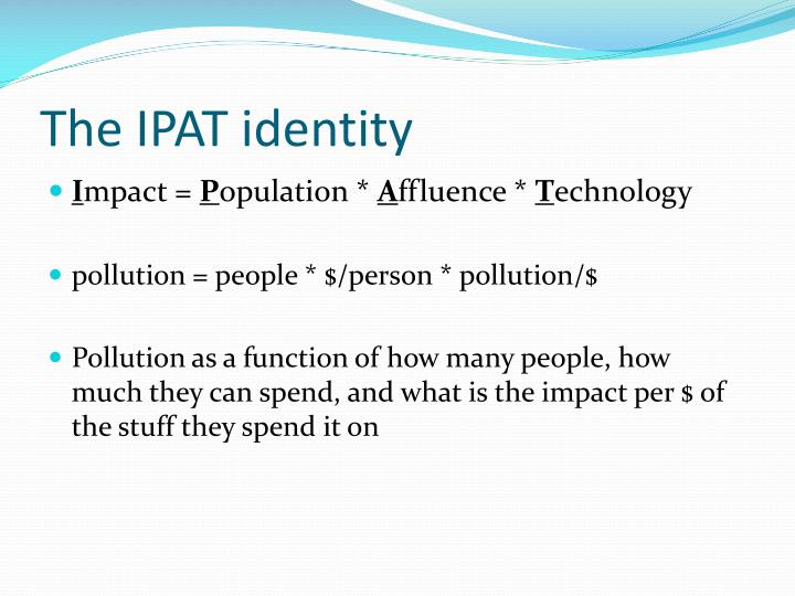 The IPAT identity