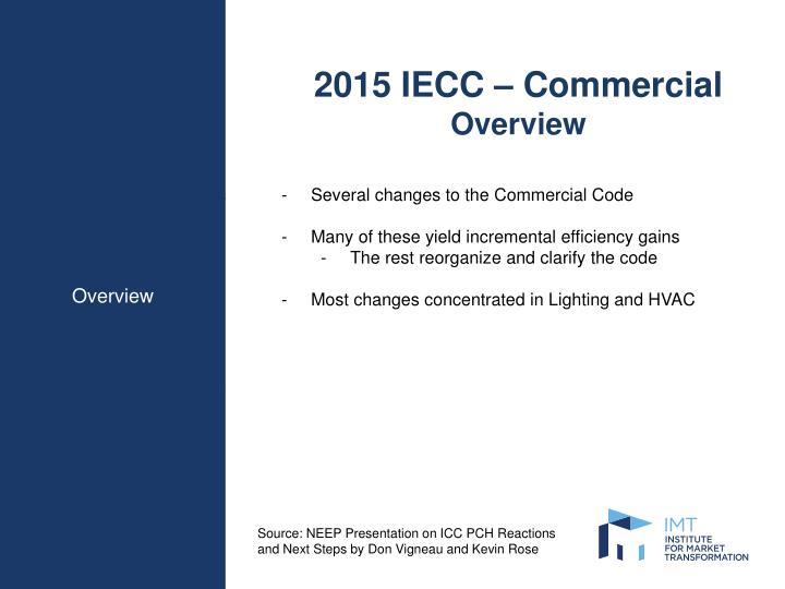 2015 IECC – Commercial