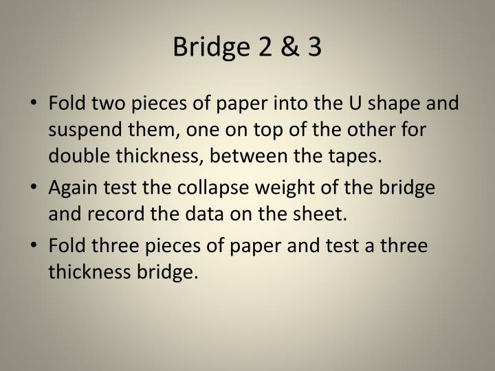 Bridge 2 & 3