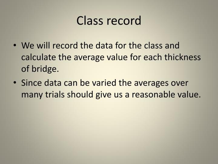 Class record