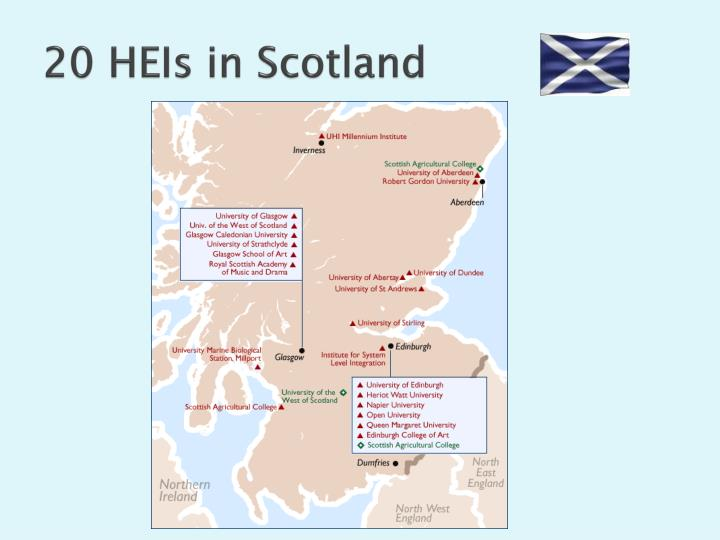 20 HEIs in Scotland