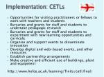 implementation cetls