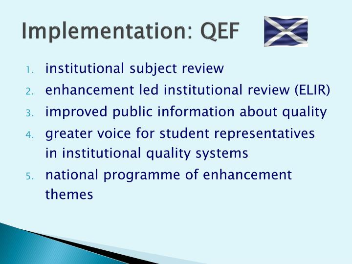 Implementation: QEF