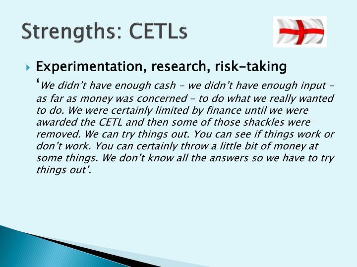 Strengths: CETLs