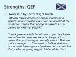strengths qef