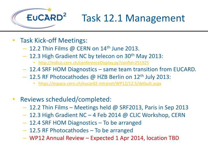 Task 12.1 Management