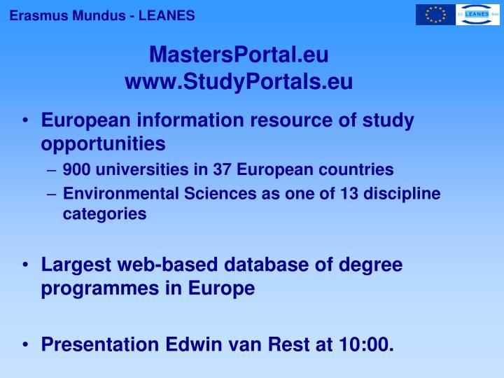 MastersPortal.eu