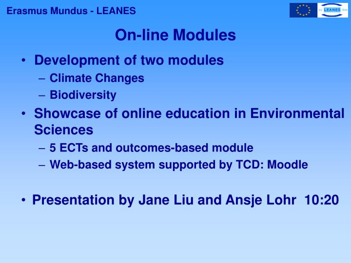 On-line Modules
