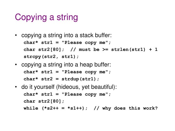 Copying a string