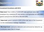 investment incentives until 2014