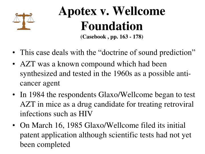 Apotex v. Wellcome Foundation