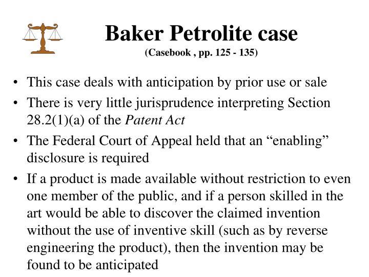 Baker Petrolite case