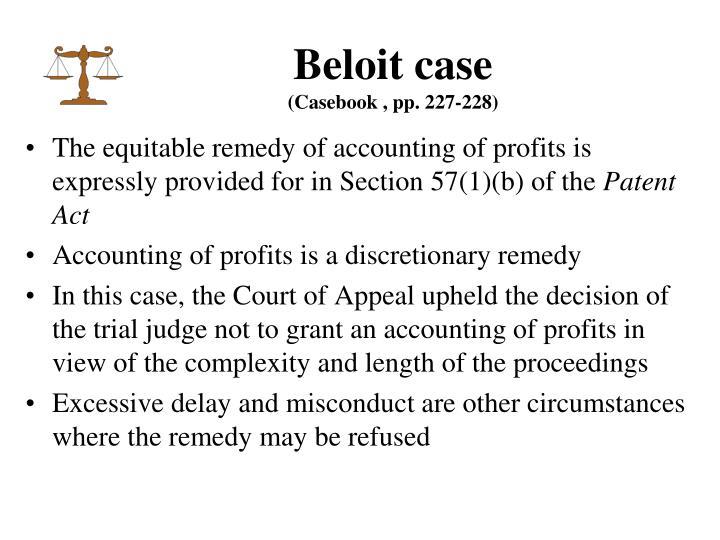 Beloit case