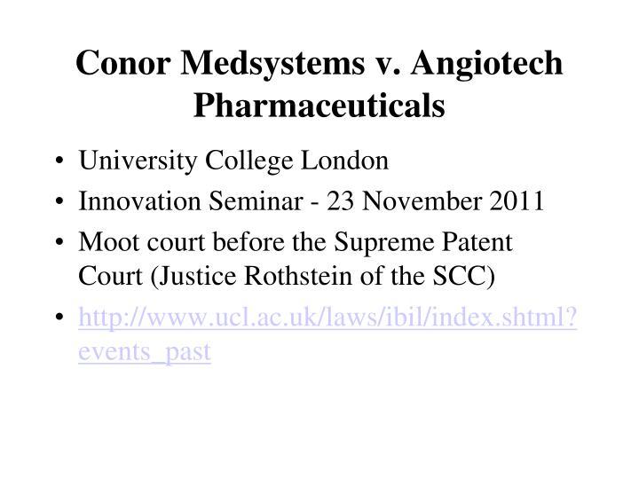 Conor Medsystems v. Angiotech Pharmaceuticals