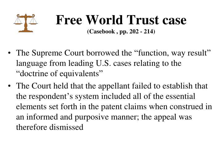 Free World Trust case