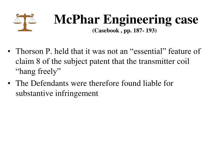 McPhar Engineering case