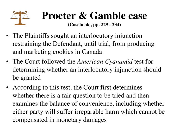 Procter & Gamble case
