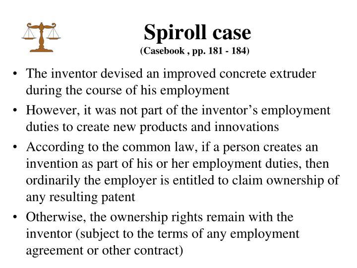 Spiroll case