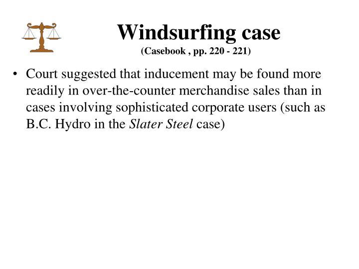 Windsurfing case